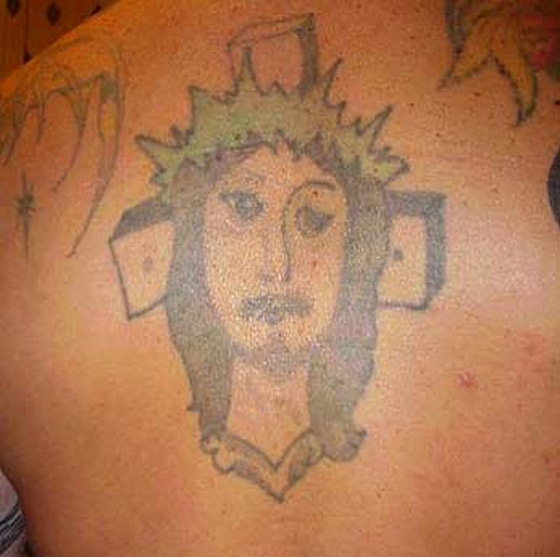 Weird Bad Jesus Tattoo - Christmas Jesus