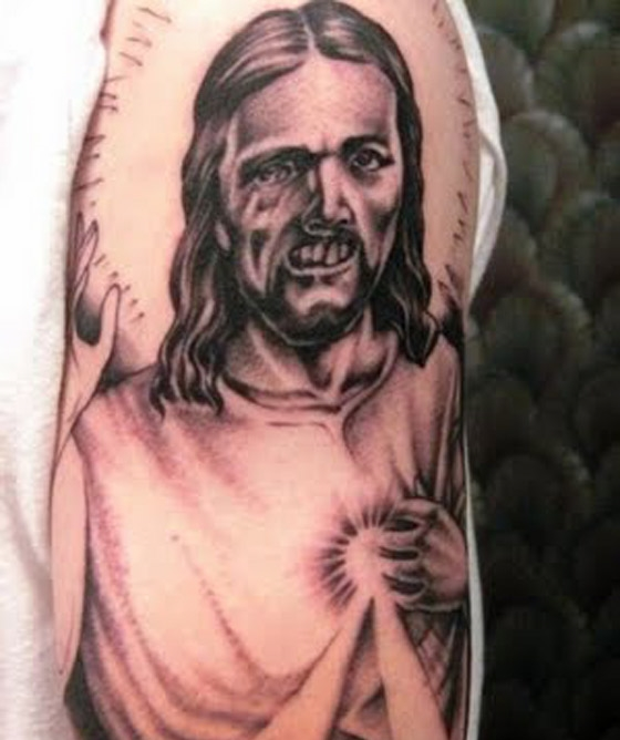 Weird Bad Jesus Tattoo - Deep South