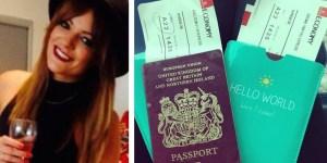Woman Passport Toilet Paper