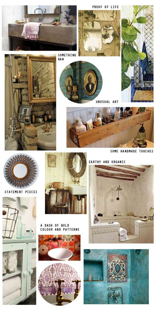 Boho bathroom
