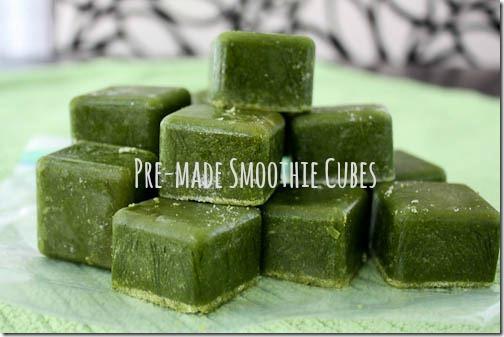 pre-made smoothie cubes