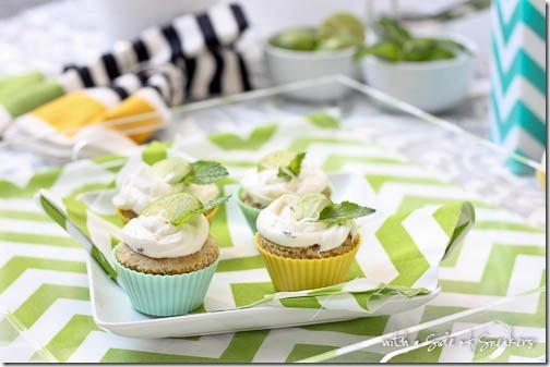 cupcakes with lime and mint