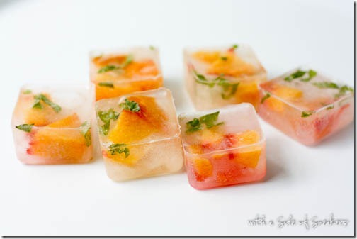 peach ice cubes