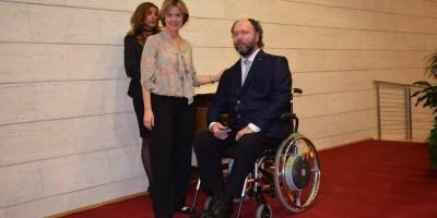 Premiazione con il Ministro Beatrice Lorenzin con l'architetto Rodolfo Dalla Mora.