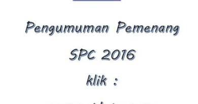Pengumuman Pemenang Lomba SPC 2016