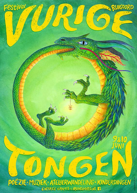 Poster Affiche Vurige Tongen 2019 Klein