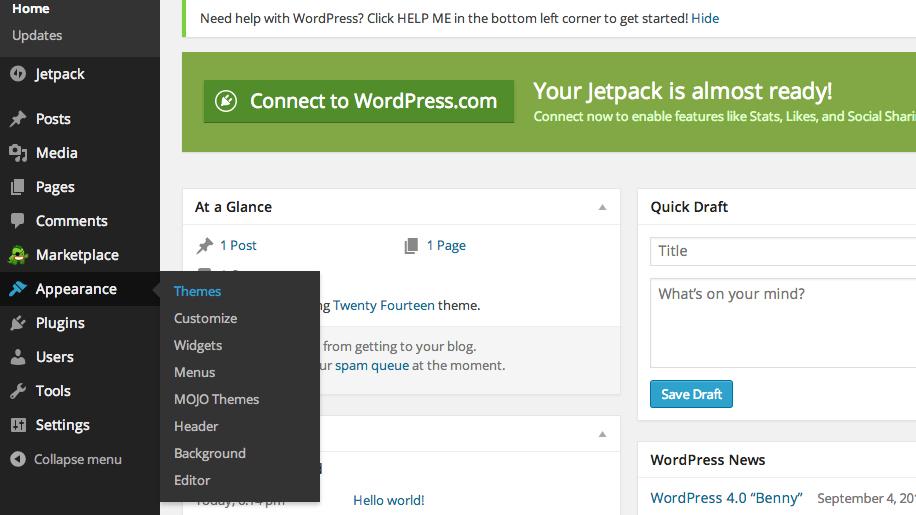 Installing a Theme in WordPress