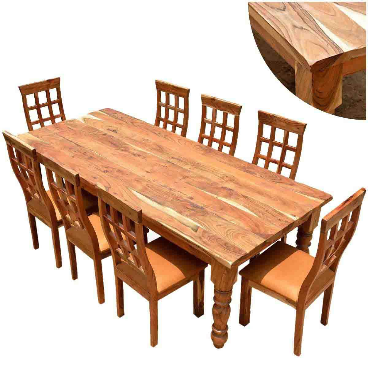 dining table and chair sets kitchen table chairs set Rustic Furniture Farmhouse Solid Wood Dining Table Chair Set