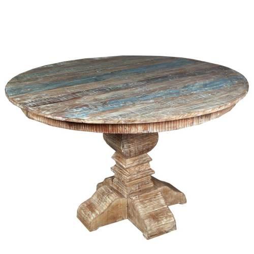 Medium Of Reclaimed Wood Dining Table