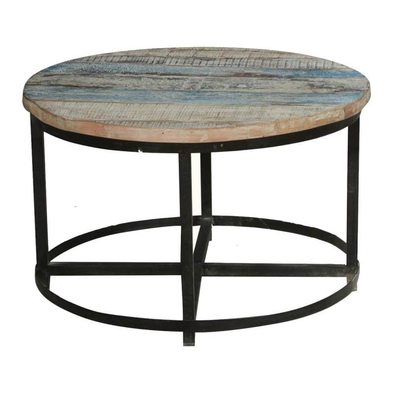 Shapely Bithlo Reclaimed Wood Round Industrial Coffee Table Industrial Coffee Table Decor Industrial Coffee Table Base