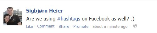 Now you can use hashtags on Facebook