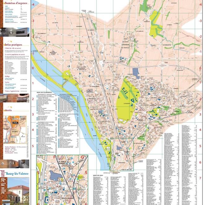 Plan Bourg-les-Valence (26) - dépliant