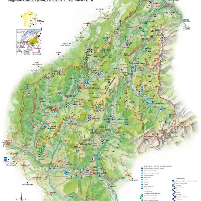 Carte Touristique été Alpes du Léman (74)