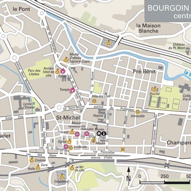 Carte inventaire patrimoine Bourgoin-Jallieu (38)