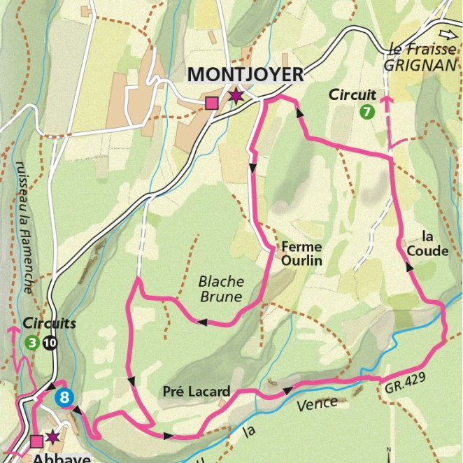 Fiche itinéraire rando Montjoyer (26)
