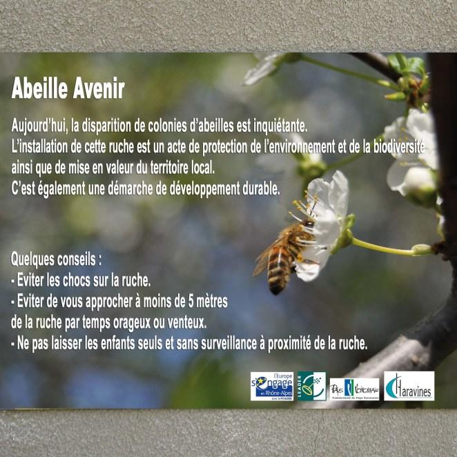 panneau information sur l'apiculture