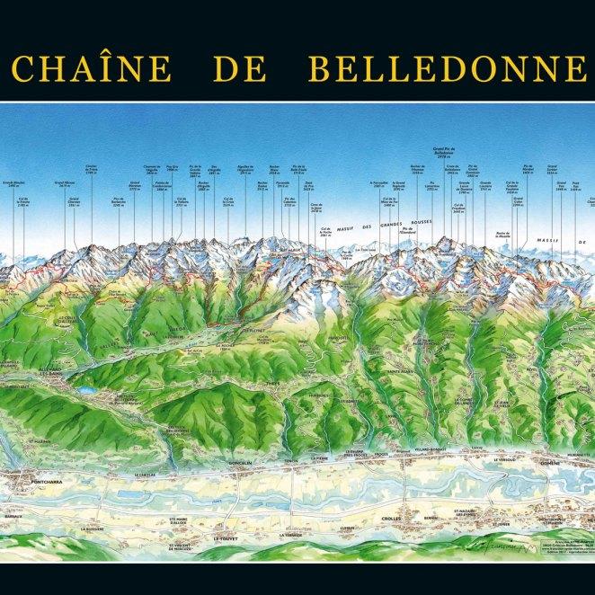 Poster panoramique Chaîne de Belledonne (38)