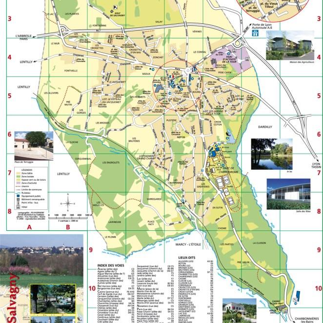 Plan La Tour de Salvagny (69) - dépliant
