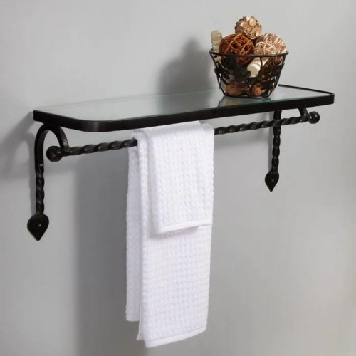Splendid This Multictioning Piece Provides More Storage Towel Bar Matte Black Industrial Bathroom Shelving Industrial Bathroom Shelf Hardware Gothic Collection Cast Iron Glass Shelf Organization