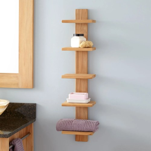 Medium Of Hanging Shelves In Bathroom