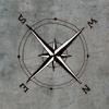 kompass m bakgrunn mini