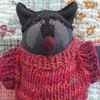 Linda Bryant Soft Sculpture, Raccoon