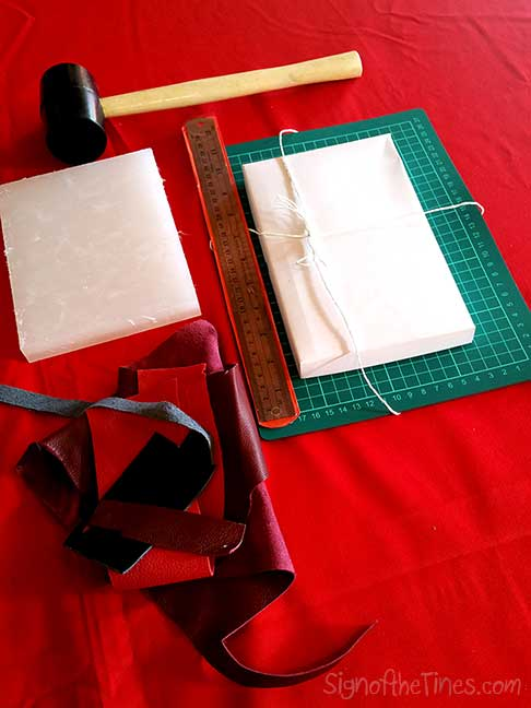 Materials for the leather workshop.