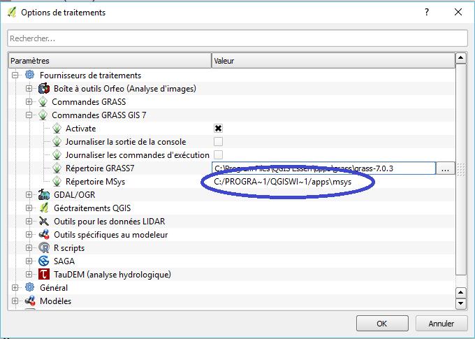 traitements->options->Grass7 dans qgis 2.14