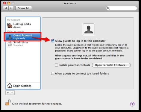 sihirli elma user accounts kullanici hesaplari 13 Mac101: Kullanıcı Hesapları ne işe yarar?