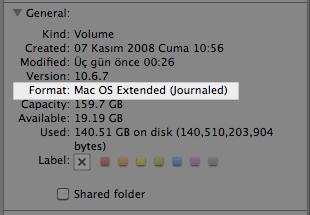 sihirli elma disk format mac os extended journaled Mac101: Nasıl format atılır? (Bir diski biçimlendirmek)