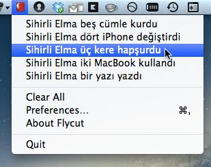 sihirli elma editor yazi kopyala flycut jumpcut pano 3 Editörler için hayat kurtaran uygulama: Flycut