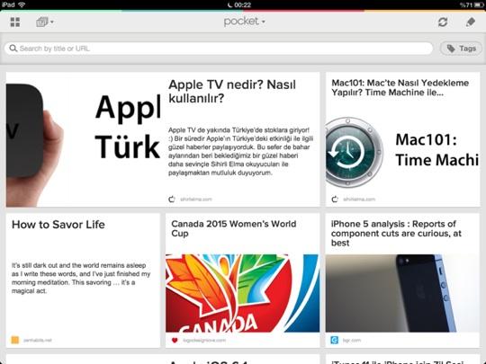 sihirli elma pocket 14 Pocket ile internetteki her şey cebimizde!