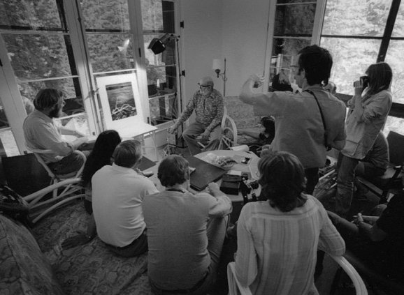 Ansel Adams critiquing students