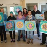 mandala silk painting workshop fionastolze silkandart