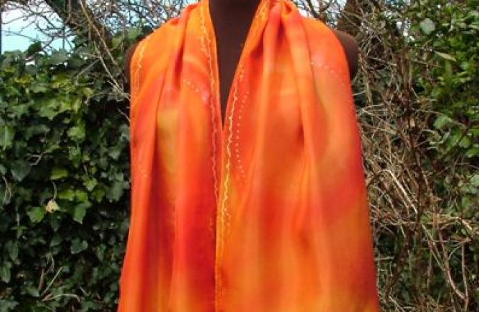 Sacral chakra scarf fionastolze