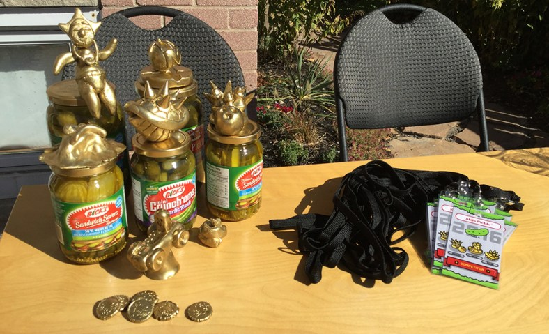 Trophies, coins, competitor lanyards...