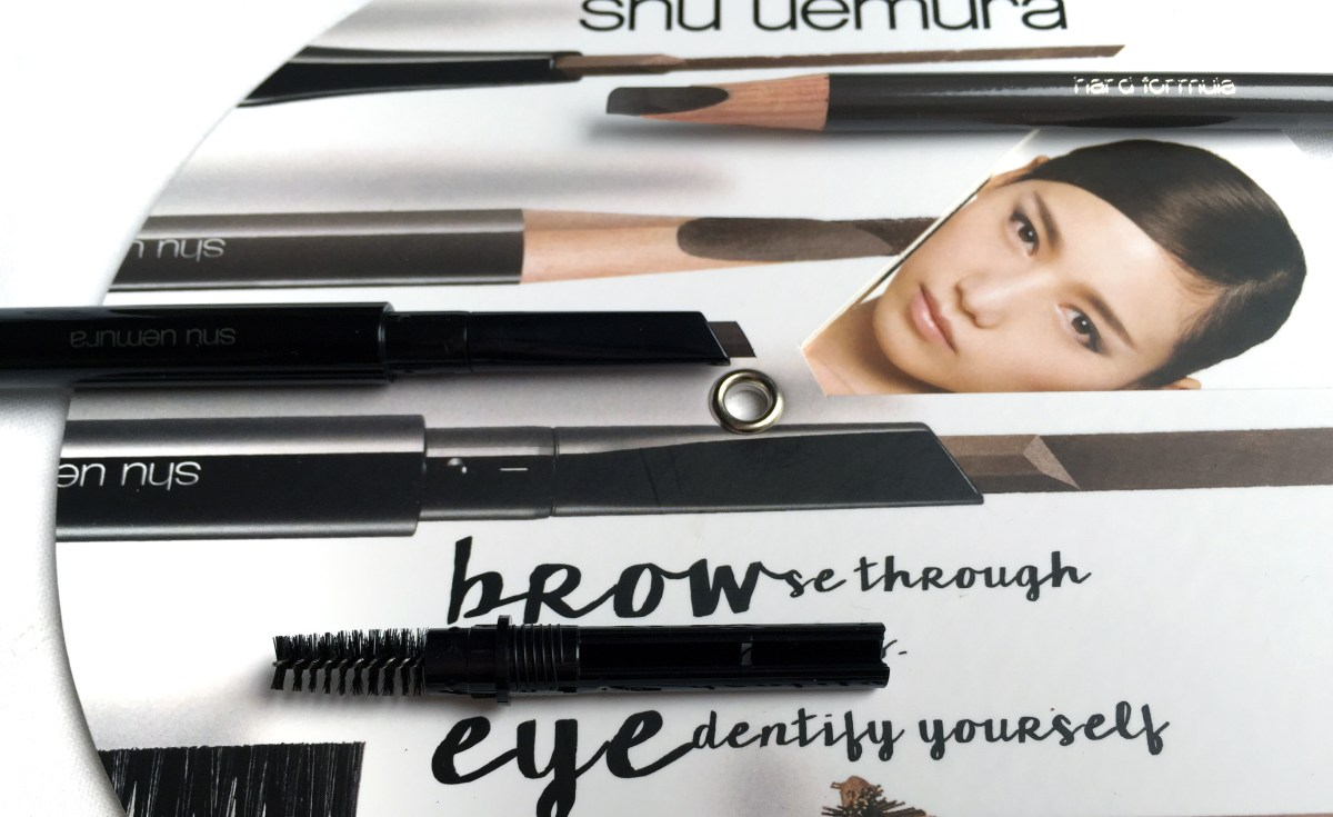 Artfully Eliminating Brow Woes with Shu Uemura's Brow:sword & Hard Formula Eyebrow Pencil