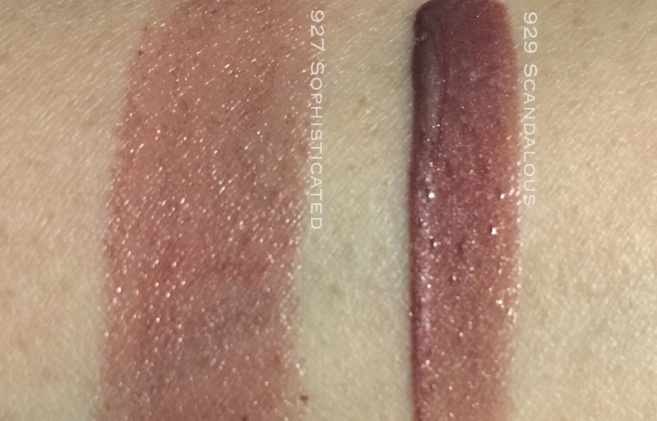 Dior Sophisticated and Scandalous swatches