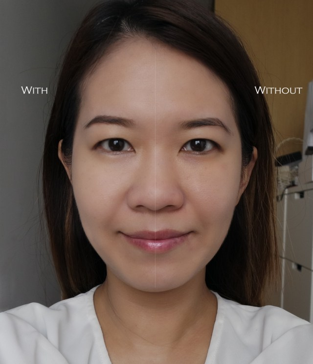 Sulwhasoo Perfecting Cushion Intense before after comparison
