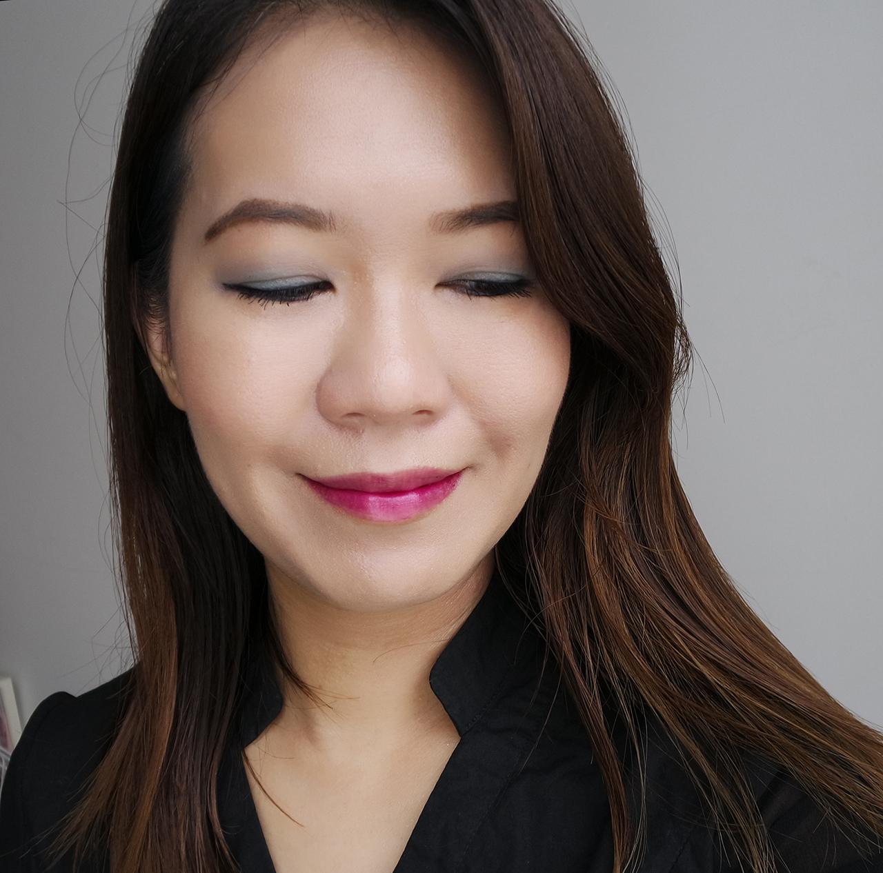 Shiseido Paperlight Cream Eye Color makeup look