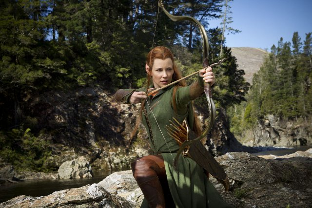 Tauriel shooting a bow. Photo: Credit to Warner Brothers
