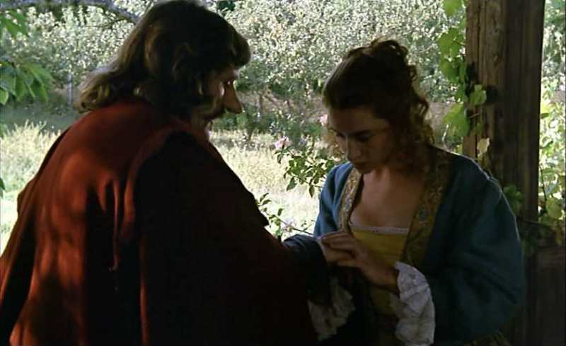 Roxanne asks for Cyrano's help in Cyrano de Bergerac
