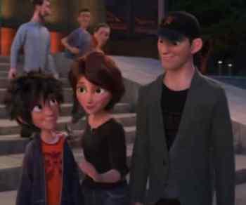 Tadashi, Hiro, and Aunt Cass Photo: Disney