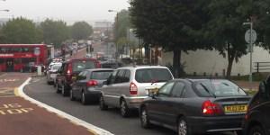 Charlton traffic jam