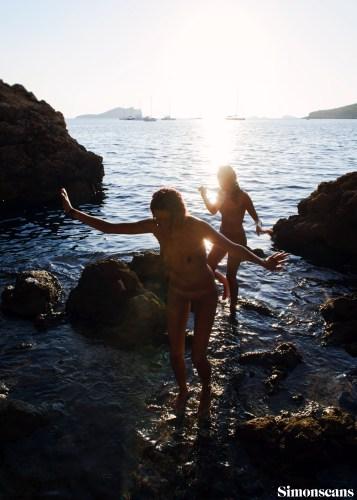 Charlene & Kate on the rocky shore