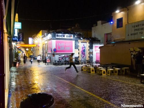 Ibiza in the rain