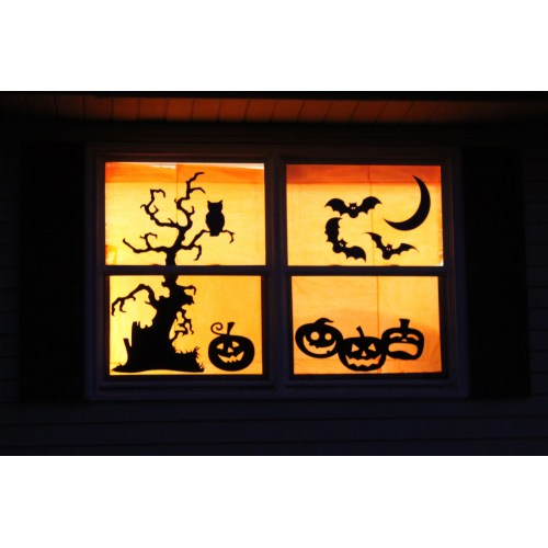 Medium Crop Of Halloween Window Decorations
