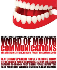 Word of mouth event flyer