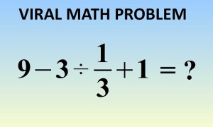 What is 9 - 3 ÷ 1/3 + 1 = ?