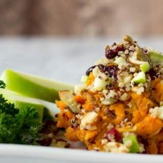 Mashed Maple Sweet Potatoes with Fall Quinoa